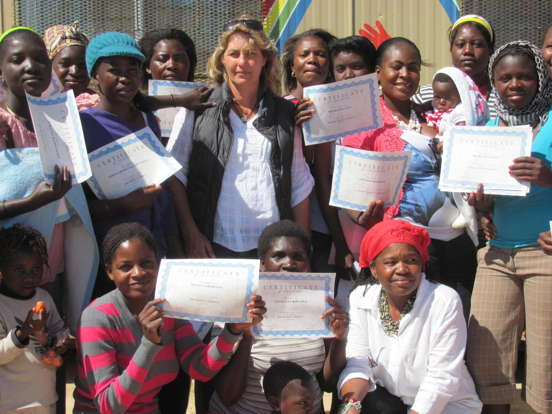 Women got their certificate